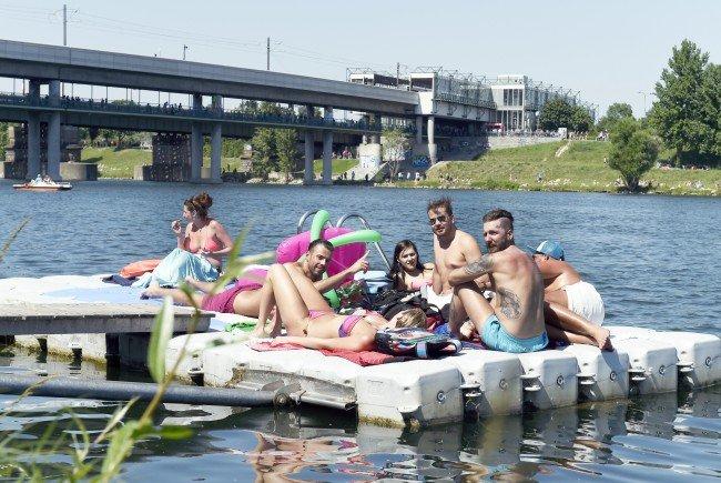 Die Neue Donau lädt zum Abkühlen ein.
