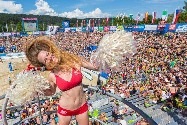 In der letzten Juli-Woche geht in Klagenfurt wieder die Beachvolleyball-Party ab.