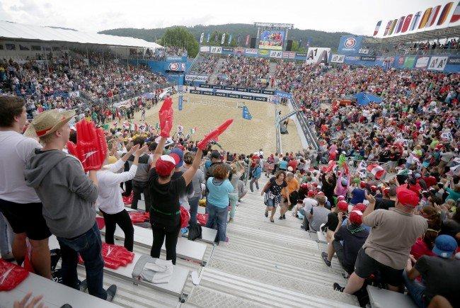 Das Klagenfurter Beachvolleyball-Turnier ist gestartet.