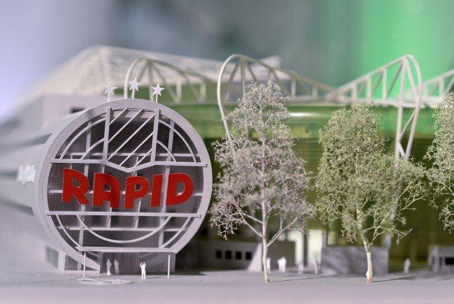 Die Rapid-Mitglieder konnten bereits Stadion-Luft schnuppern.
