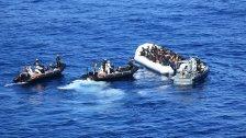 Anzeigetafel für ertrunkene Flüchtlinge