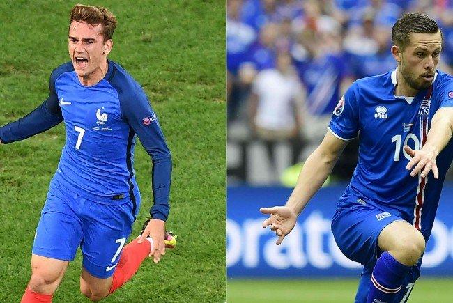 Frankreich trifft im Viertelfinale der EURO 2016 auf Island.
