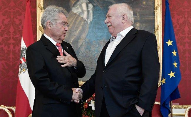 Bundespräsident Fischer trifft Bürgermeister Häupl ein letztes Mal in der Hofburg