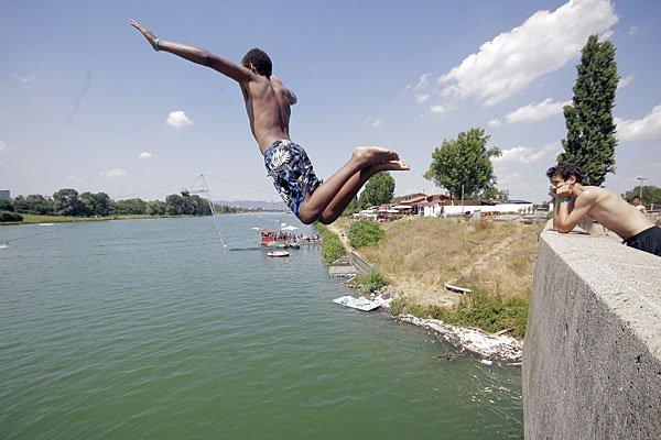 Im Bereich der Neuen Donau wurde ein Badeverbot verhängt