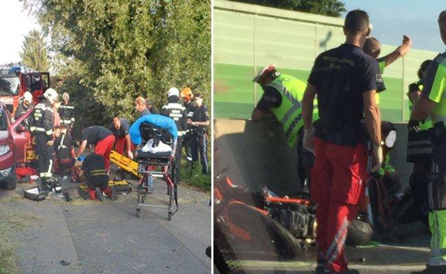 Mehrer Unfälle ereigneten sich am Donnerstagvormittag in Wien