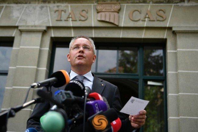 Matthieu Reeb vom CAS verkündete die Entscheidung