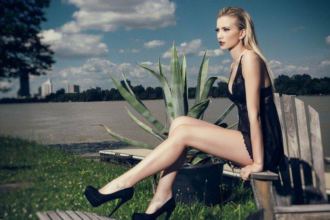 Beim ersten offiziellen Fotoshooting mit Dragana Stankovic.