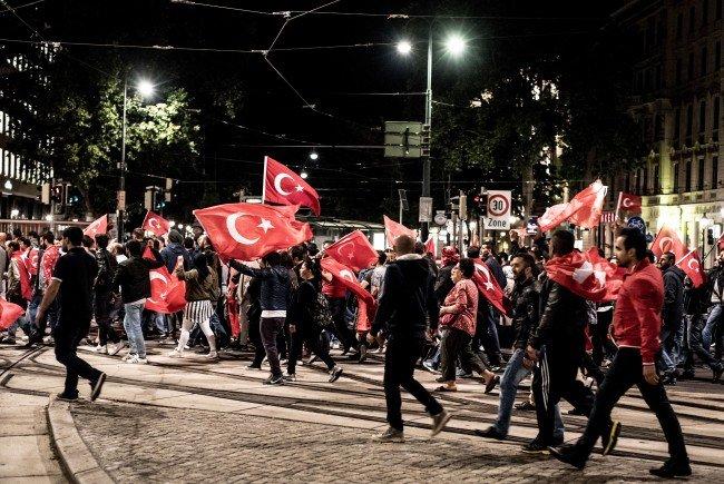 Bei einer der türkischen Demonstrationen in Wien.