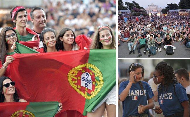 13.000 Fans verfolgten das EM-Finale am Wiener Rathausplatz.