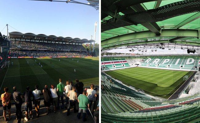 Das Hanappi-Stadion wurde abgerissen, an seiner Stelle entstand das brandneue Allianz-Stadion.