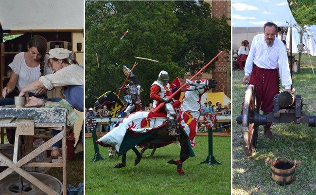 Beim Mittelaltermarkt im HGM gingen die Besucher auf Zeitreise.