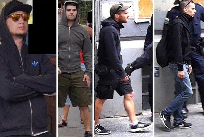 Diese vier Männer werden nach der Identitären-Demo polizeilich gesucht
