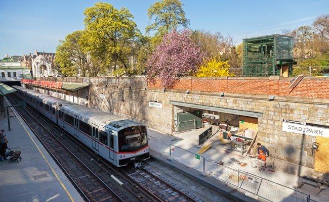 Ab 11. Juli wird die U4-Station Stadtpark in Richtung Heiligenstadt gesperrt.