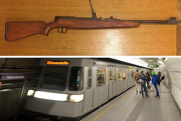 Mit diesem Gewehr waren die Jugendlichen in der U2 unterwegs
