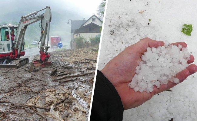 Im Bezirk Neunkirchen hinterließen heftige Unwetter Spuren der Verwüstung.