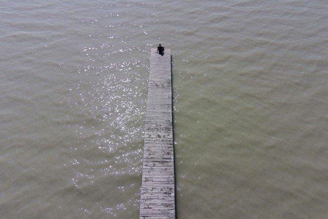 Die Boote gerieten im Neusiedler See in Not.
