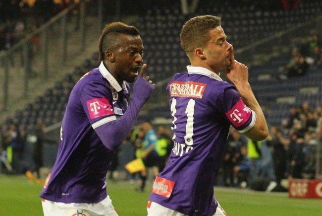 Lucas Venuto (r.) und Larry Kayode kamen gegen Mattersburg erst nach einer Stunde aufs Feld.