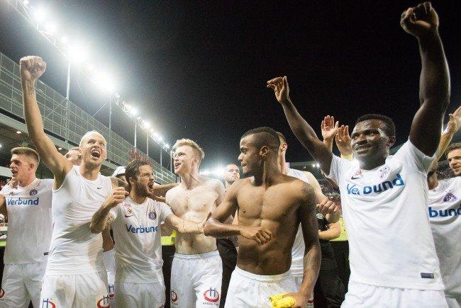 Erst im Elfmeterschießen konnte die Austria Wien den Sieg für sich klarmachen