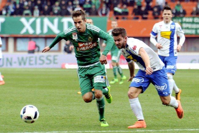 Stefan Nutz (l.) kam vor einem Jahr ablösefrei von Grödig nach Wien.