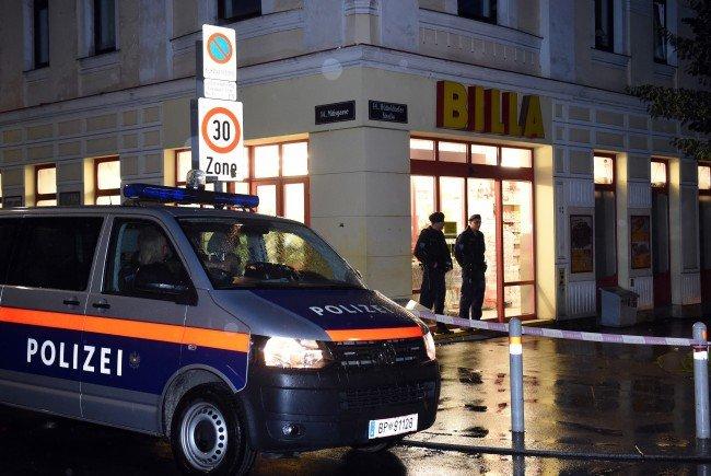 Nach dem tödlichen Supermarkt-Überfall in Wien-Penzing.