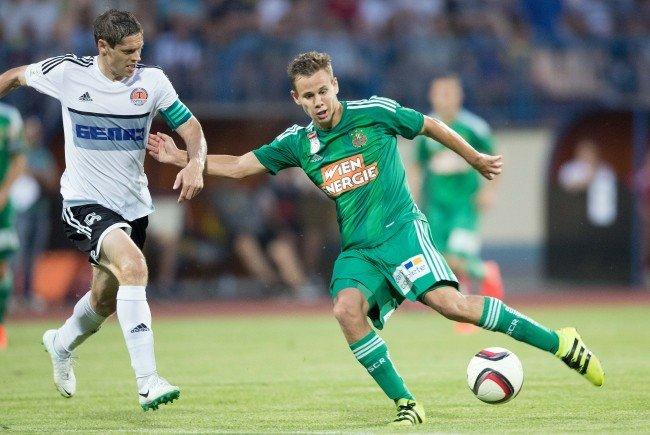 Louis Schaub empfängt mit Rapid Torpedo Schodsina zum ersten Europacupspiel im Allianz-Stadion.