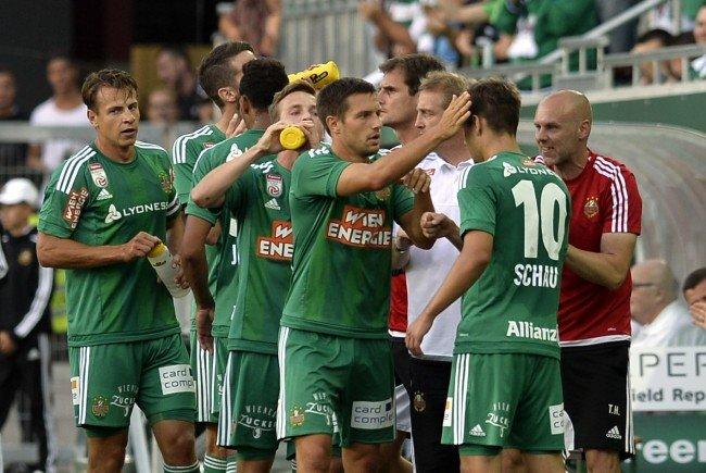 Grün-weißer Jubel im Allianz-Stadion.