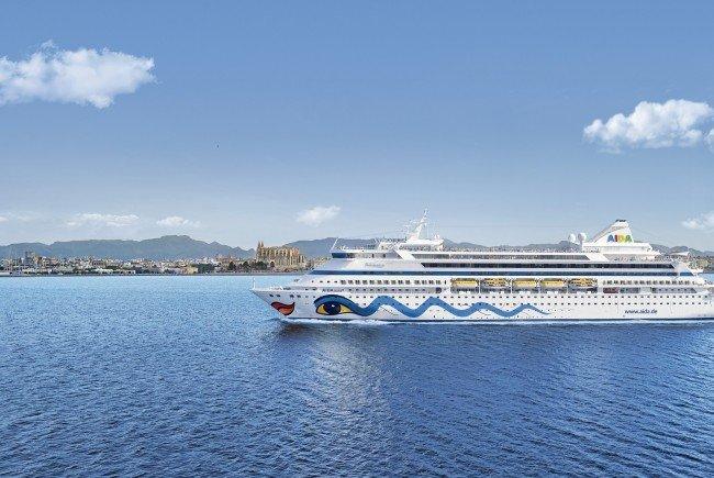 AIDAaura ist im westlichen Mittelmeer unterwegs.