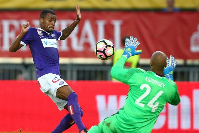 Die Austria besiegt Rosenborg im Hinspiel.
