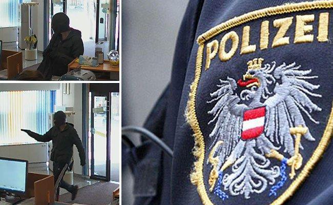 Die Polizei fahndet nach einem Bankräuber in Michelhausen