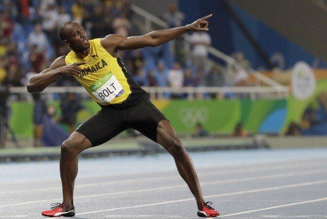 Usain Bolt holte zum dritten Mal hintereinander Gold über 100 Meter, 200 Meter und in der 4x100 Meter Staffel.