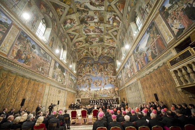 Die Sixtinische Kapelle hält Einzug in der Wiener Votivkirche