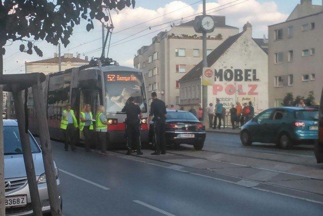 An der Unfallstelle in Wien 15