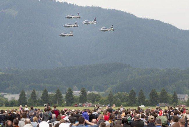 Tolle Flugshows warten auf die Besucher.
