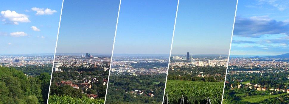 Die schönsten Ausblicke über Wien.