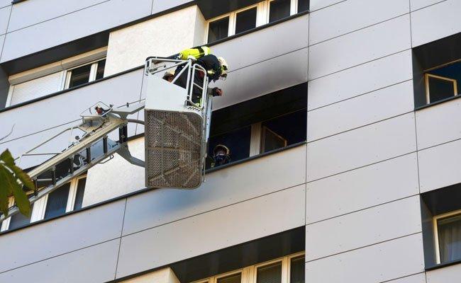 Der Brand war im 5. Stock ausgebrochen.