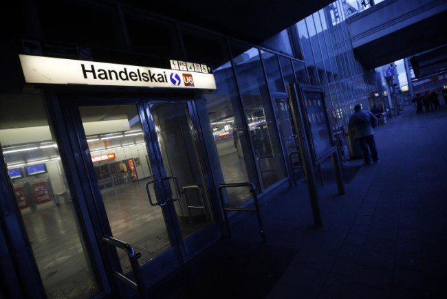 Das Pärchen wurde am Parkplatz Handelskai erwischt.