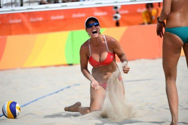 Die Schweizer Beach-Volleyballerin Isabelle Forrer.