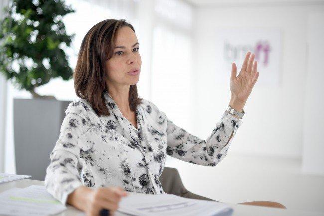 Familienministerin Sophie Karmasin (ÖVP) beim Interview