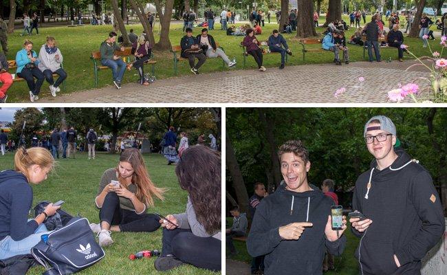 Fotos von der Pokémon-Go-Party im Prater.