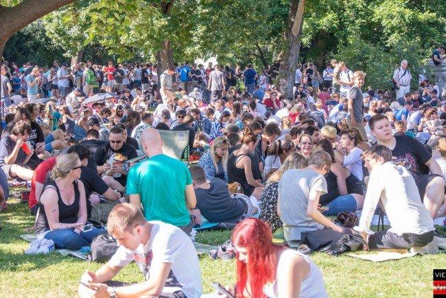 Große Pokémon Go Party im Wiener Stadtpark.