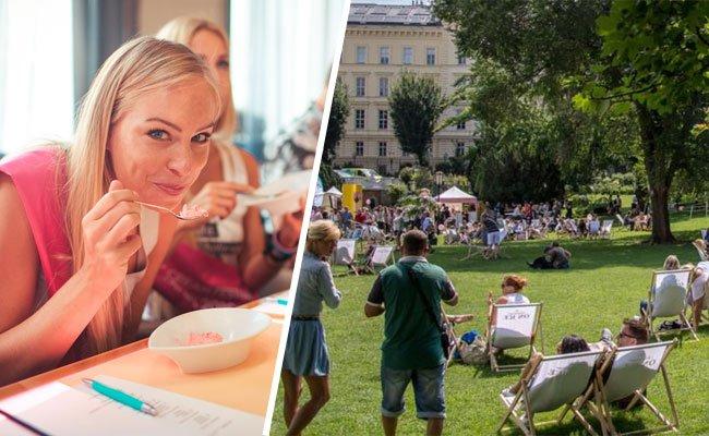Das erste Vienna Ice Cream Festival wurde mit einer Eis-Blindverkostung eröffnet.