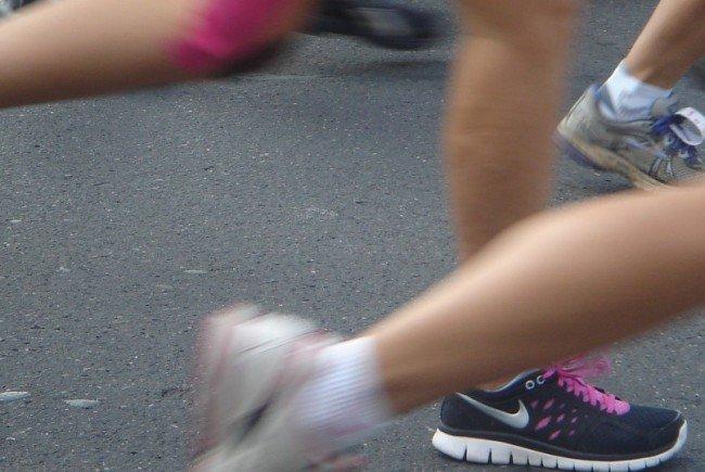 Laufen für die Krebsforschung.
