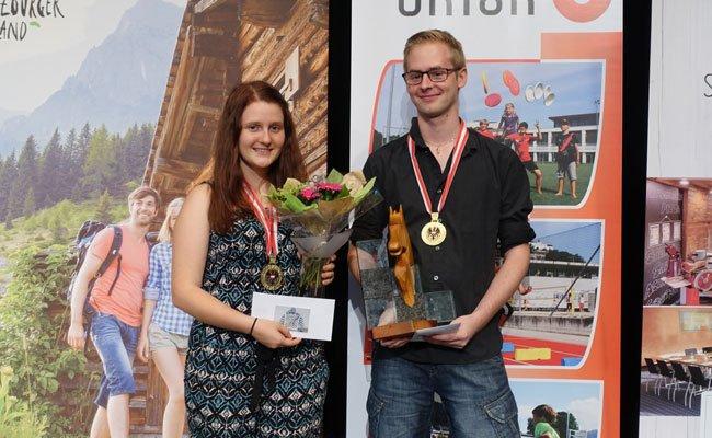 Anna-Lena Schnegg und Georg Fröwis holten sich den Staatsmeistertitel im Schach.