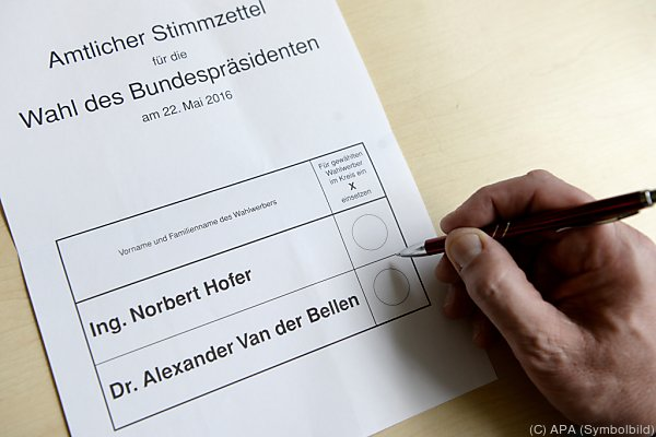 Ein Stimmzettel von der ersten Stichwahl.