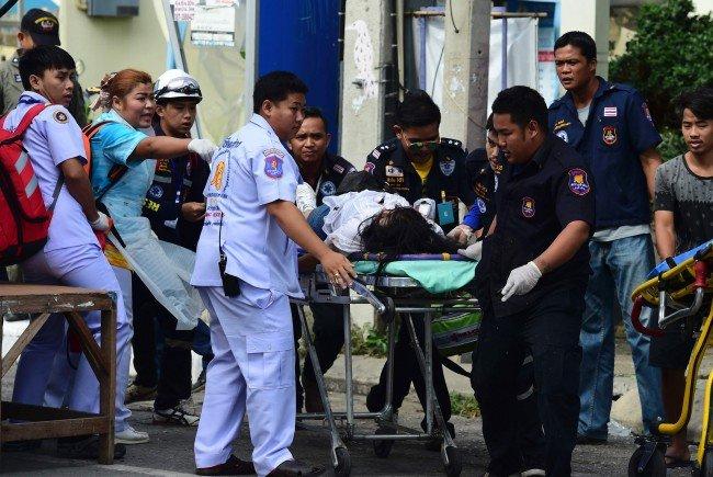 Einsatz nach den Explosionen in Thailand