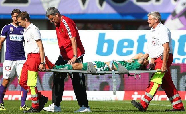 Verletzung beim Derby am Sonntag.