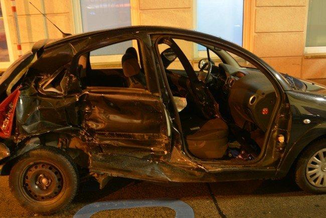 Eines der beiden Unfallfahrzeuge in Wien-Ottakring.