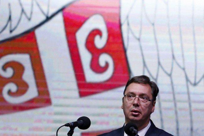 Serbiens Regierungschef Aleksandar Vucic kommt nach Wien