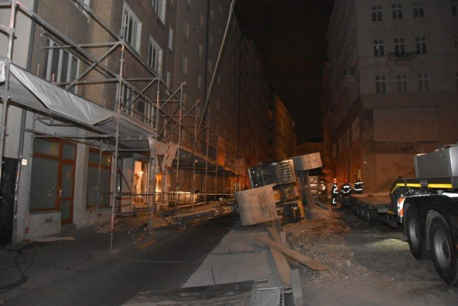 Spektakuläre Szene in der Wiener Innenstadt.