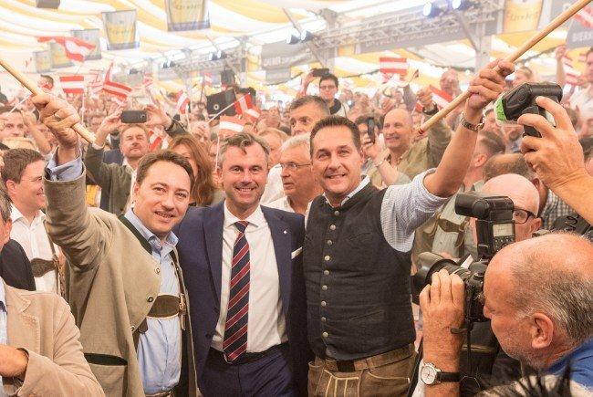 Norbert Hofer feierte in Wels seinen Wahlkampfauftakt.
